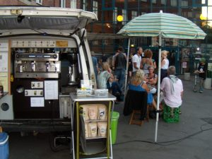 in english . mobile coffeebar