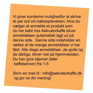 anmeldelser Aekvatorkaffe.dk