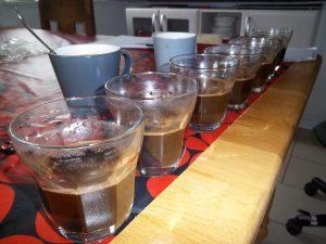 kaffesmagning, cupping